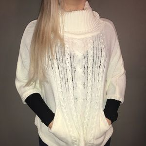 Charming Charlie sweater poncho